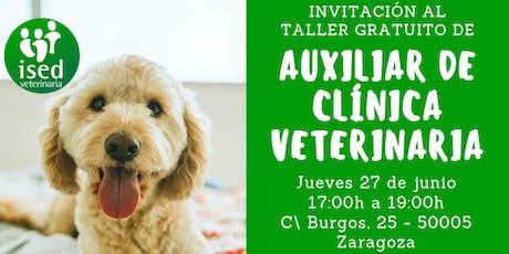 Taller gratuito de Auxiliar de Clínica Veterinaria 27 de junio entradas