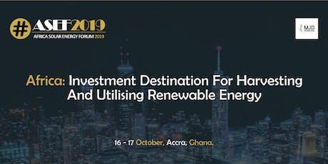 Africa Solar Energy Forum 2019 (#ASEF2019) tickets