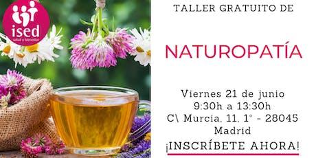 Taller de Naturopatía 21 de junio entradas