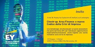 Check-up area Finance e nuovo Codice della Crisi d'Impresa