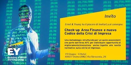 Check-up area Finance e nuovo Codice della Crisi d'Impresa biglietti