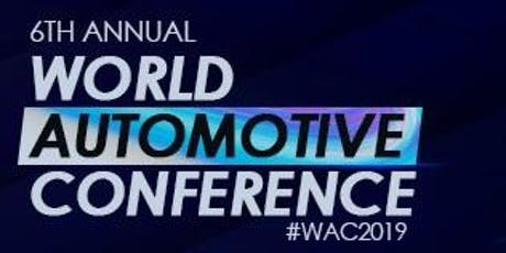 6. World Automotive Conference tickets