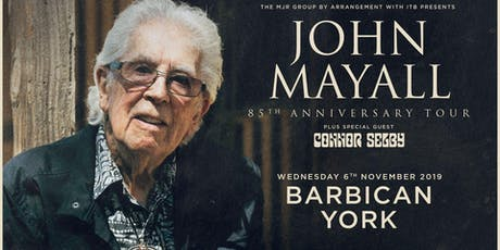John Mayall - 85th Anniversary Tour (Barbican, York) tickets
