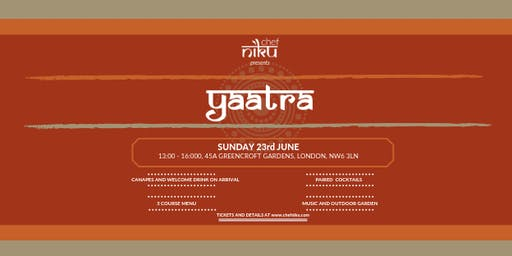 **SOLD OUT** Chef Niku presents Yaatra (Supper Club)