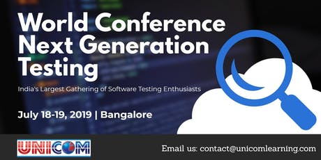 World Conference Next Generation Testing 2019 tickets