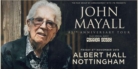 John Mayall - 85th Anniversary Tour (Albert Hall, Nottingham) tickets