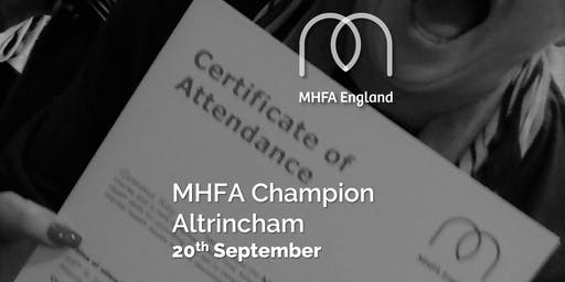 Mental Health Champion - Altrincham - Adult One Day
