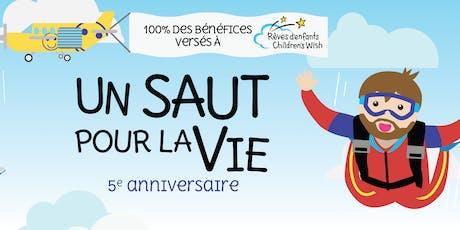 Un saut pour la Vie : 5e anniversaire billets