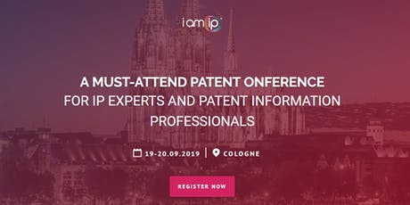IamIP - PATENT CONFERENCE 2019 Tickets