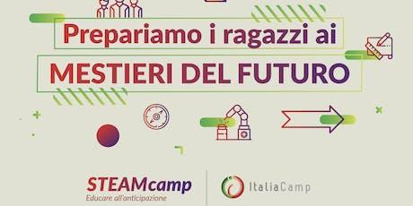 STEAMcamp, edizione luglio 2019 biglietti