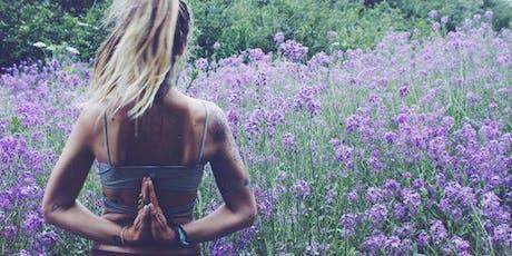 Sunset Salutations Yoga Class at Caswell Flower Farm tickets