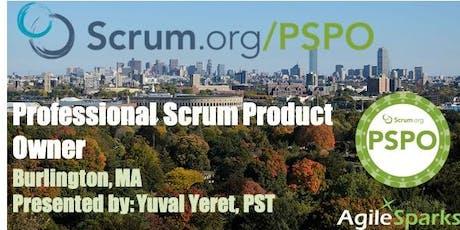 Professional Scrum Product Owner (PSPO) - Burlington, MA - Dec 2019 tickets