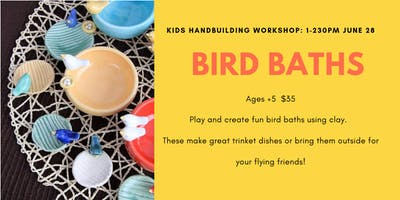 Bird Baths- Kids Clay Hand Building