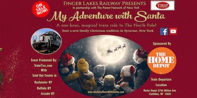 My Adventure With Santa Train Ride-Syracuse NY