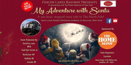 My Adventure With Santa Train Ride-Syracuse NY