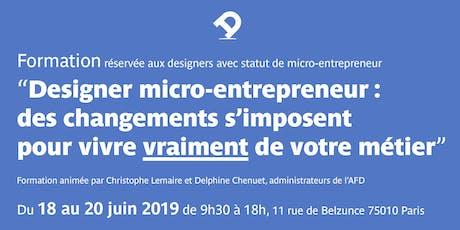 Formation pour designer micro-entrepreneur : des changements s'imposent pour vivre vraiment de votre métier tickets