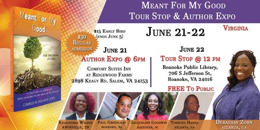 Meant For My Good Author Expo & Tour Stop Virginia
