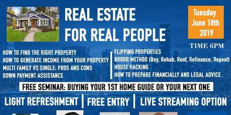 Real Estate For Real People-(How to Prepare&Profit)The Home Buying Process tickets
