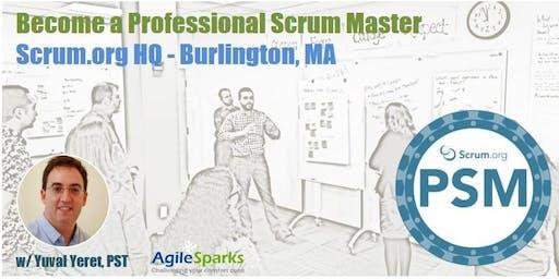Professional Scrum Master (PSM) - Burlington, MA - August 2019 - Guaranteed to Run