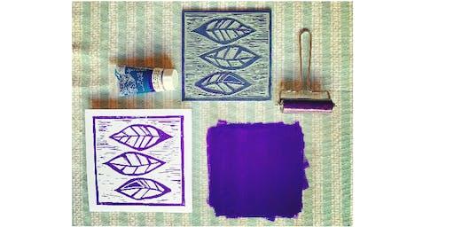 Lino Cut & Print at The Barn Heswall
