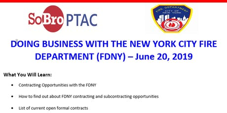 DOING BUSINESS WITH THE NEW YORK CITY FIRE DEPARTMENT (FDNY) tickets