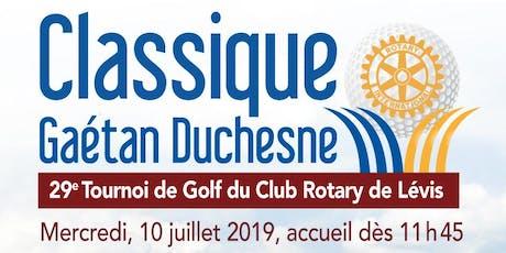 Tournoi de Golf du Club Rotary Lévis 2019 billets
