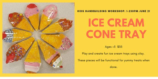 Ice Cream Cone Tray- Kids Clay Hand Building