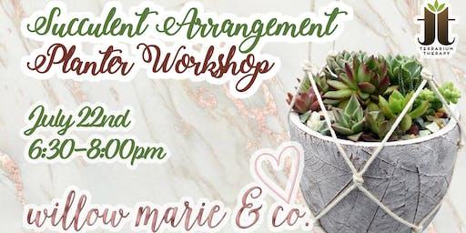 Succulent Arrangement Planter Workshop at Willow Marie & Co.