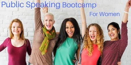 Public Speaking Bootcamp for Women tickets