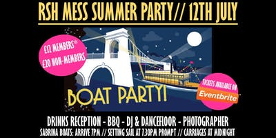 RSH Mess Summer Boat Party