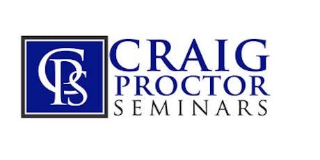 Craig Proctor Seminar - Anaheim tickets