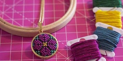 Cross Stitch Necklace Workshop