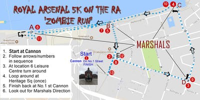 Zombie Fun Run '5K on the RA' (FREE FOR THE 1ST 25 PARTICIPANTS)