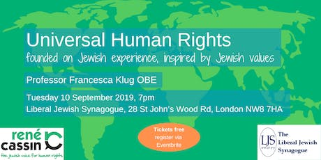 Universal Human Rights – founded on Jewish experience, inspired by Jewish values tickets