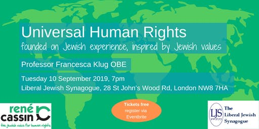 Universal Human Rights – founded on Jewish experience, inspired by Jewish values