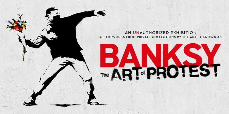 "Tickets for Banksy ""The Art of Protest"" en Málaga"