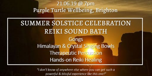 Summer Solstice Celebration Reiki Gong Sound Bath