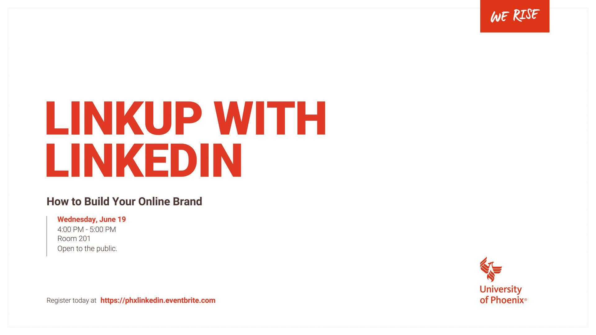 LinkUp with LinkedIn: How to Build Your Online Brand