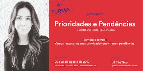 Workshop- Prioridades e Pendências ingressos