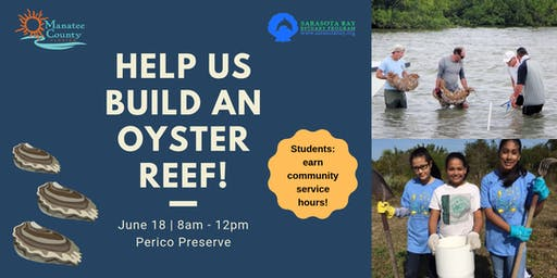 Build an Oyster Reef at Perico Preserve