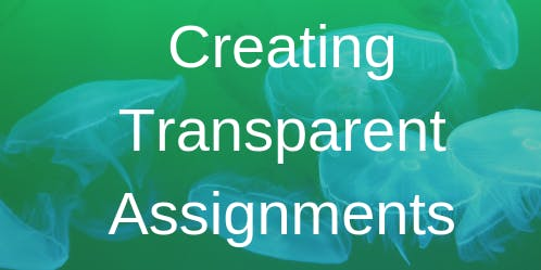 Summer COS Faculty Workshop on Creating Transparent Assignments