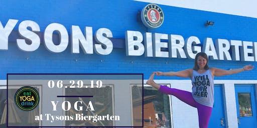 Yoga at Tysons Biergarten
