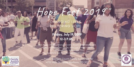 Prince George's County Family Justice Center Hope Fest 2019 tickets
