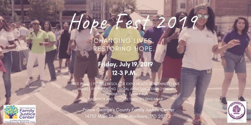 Prince George's County Family Justice Center Hope Fest 2019