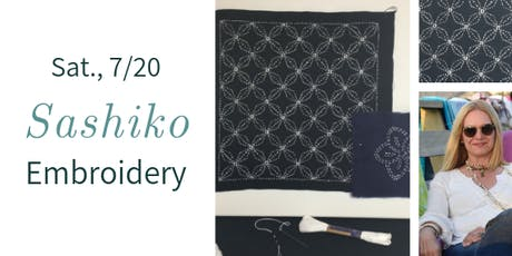 Sashiko Embroidery Session 1 w. Jo Cohen tickets