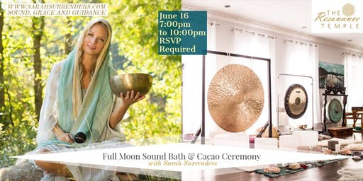 Sold Out- Full Moon Sound Bath & Cacao Ceremony