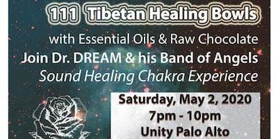 111 Tibetan Healing Bowls, Essential Oils & Raw Cacao Experience, Sound Healing, Palo Alto, CA