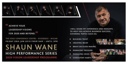 Shaun Wane High Performance Series  - The Launch