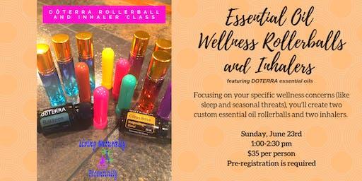 Essential Oil Wellness Rollerballs and Inhalers