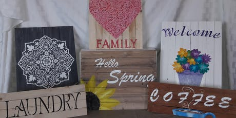Painted Wood Signs Class tickets